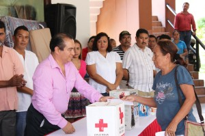 Dr. Cantu with donations from Palm Desert