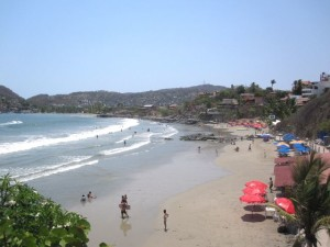 La Madera Beach in Zihuatanejo