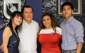 Caolina Saldana with family