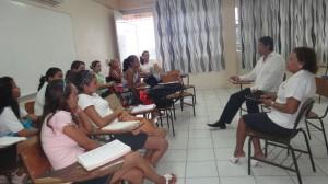 Prof Donaji Mendez Tello and Class