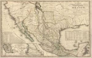 Map of Mexico before US conflict
