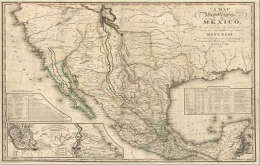 Conflicts Over Slavery Cause The Texas Revolution And Lead To The - Map of the us before the mexican american war
