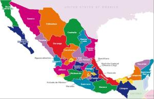 Map of Mexico today