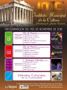 Calendar of Events - November 2015