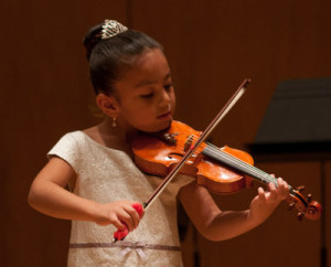 Mexican child and violin