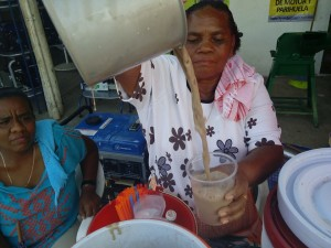 Women making Chilate