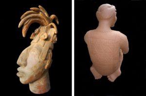 Mauricio Montezuma Aztec head and Amuzo