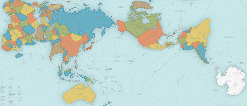 Different Map Of The World on