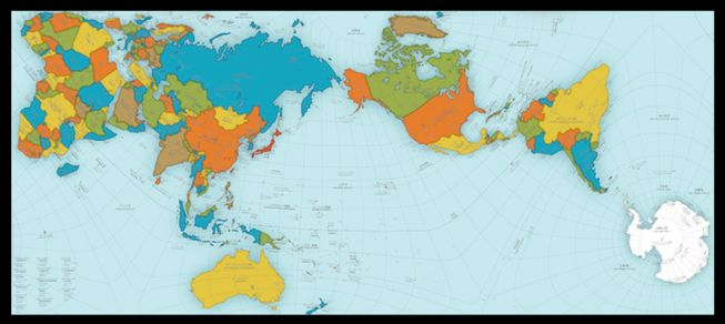 New world map gives different view of the planet imagine mexico it more correctly represents the distances between continents and displays the true size of countries and continents this new world map gumiabroncs Gallery